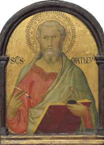 Workshop of Simone Martini, 'Saint Matthew', probably c. 1320