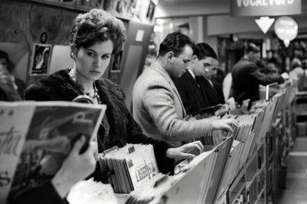 John 'Hoppy' Hopkins, 'Record Shop 1, Possibly London', 1962