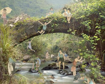Du Yan Fang, 'Rainbow bridge', 2013