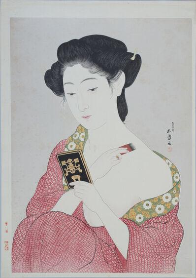 Hashiguchi Goyo, 'Woman Applying Powder', 1918
