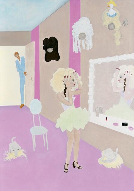Elizabeth Fox, 'Alyssa and Rupaul in the Work-Room'