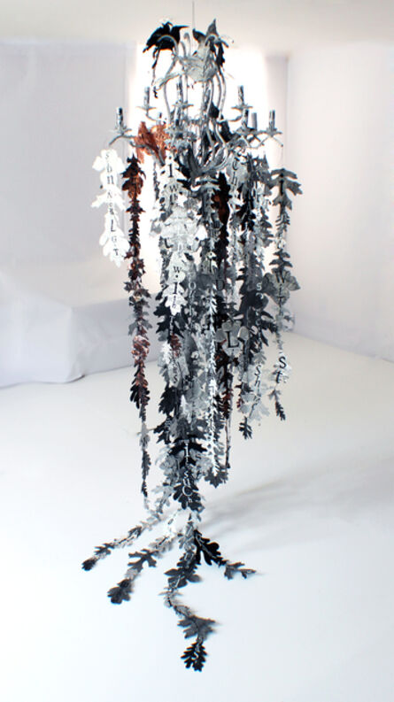 Lesley Dill, 'Bird and Leaf Chandelier', 2014