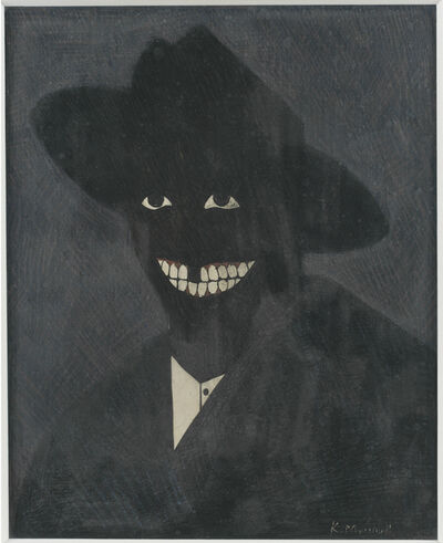 Kerry James Marshall, ' A Portrait of the Artist as a Shadow of His Former Self', 1980