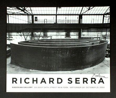 Richard Serra, 'Wake Blindspot Catwalk Vice-Versa (Hand Signed)', 2003