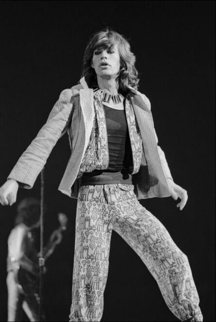 Allan Tannenbaum, 'Mick Jagger Performs', 1975