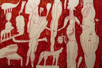 Mahmoud Obaidi, 'Make Love not War in Red', 2020