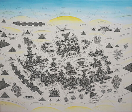 Shu-Kai Lin, 'The City Civilization Series – The surrounded house-like castle', 2017