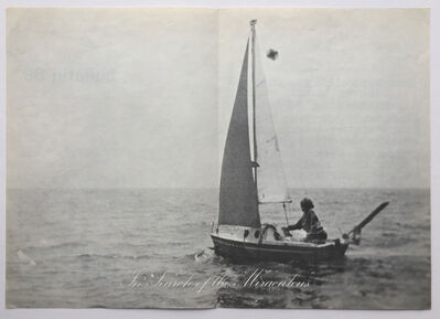 Bas Jan Ader, 'Bulletin 89: in search of the miraculous (songs for the north atlantic: july 1975 –)', 1975