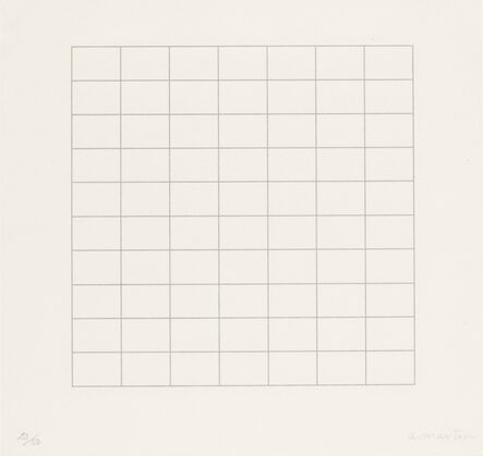 Agnes Martin, 'On A Clear Day', 1973