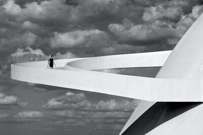 Olaf Heine, 'Girl Descending A Ramp, Brasilia', 2012