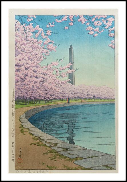 Kawase Hasui, 'Washington Monument on the Potomac River', 1935