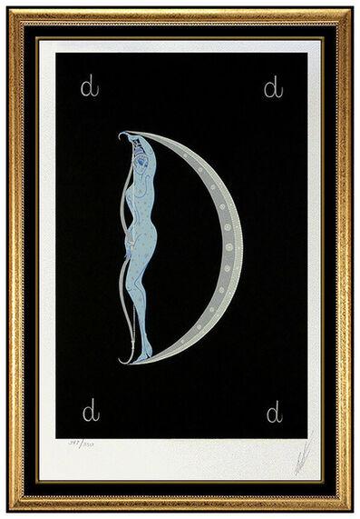 Erté (Romain de Tirtoff), 'Erte Letter D Alphabet Original Color Serigraph Hand Signed Art Deco Tirtoff SBO', 1970-1989