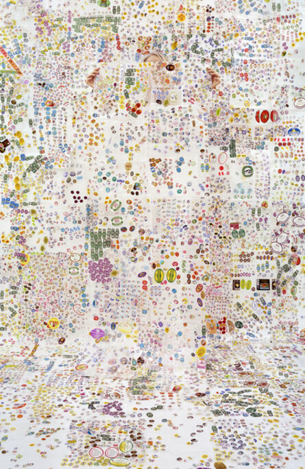 Rachel Perry, 'Lost In My Life (Fruit Stickers with Wax Paper)', 2014