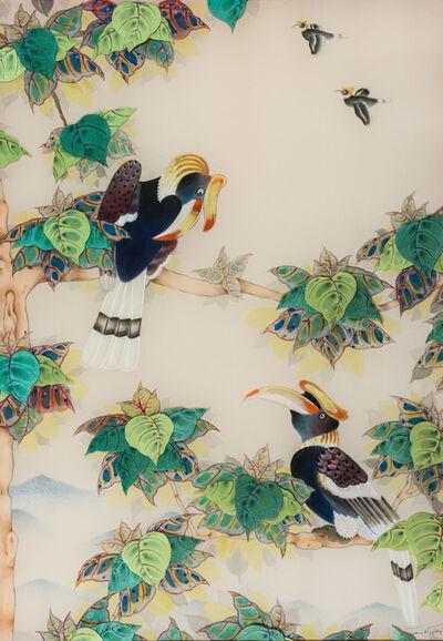 Terris Temple, 'Chatting Hornbills 閒聊的犀鳥', 2013