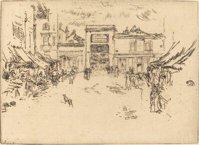 James Abbott McNeill Whistler, 'Little Market Place, Tours', 1888