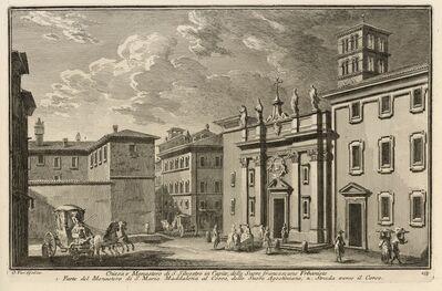 Giuseppe Vasi, 'Chiesa e Monastero di S. Silvestro in Capite, delle Suore Francescane Urbaniste', 1747-1801