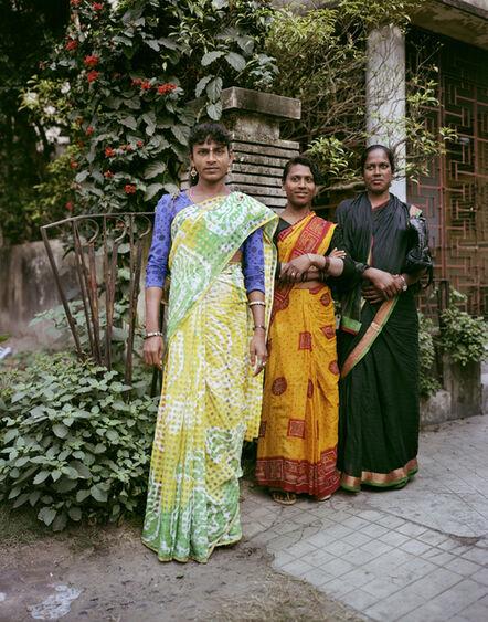 Laura McPhee, 'Miss Kajeel, Miss Rena, Miss Chandham, Transgender Dancing Girls, Jodhpur Park, Kolkata', 1998
