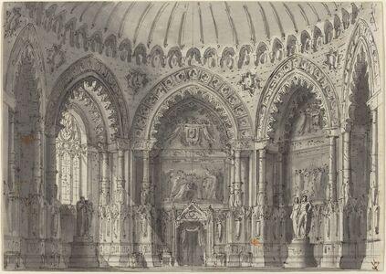 Gasparo Galliari, 'Rotunda in Gothic Style'