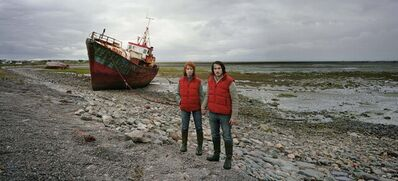 David Stewart, 'Puffa waistcoat couple guarding wreck', 2008