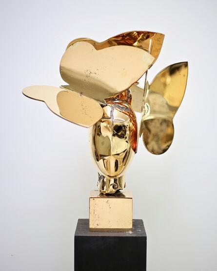 Manolo Valdés, 'Cabeza con Tres Mariposas', 2018