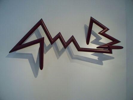 Robert Mangold (b. 1930), 'PTTSAAES 9-09a, boysenberry', 2009