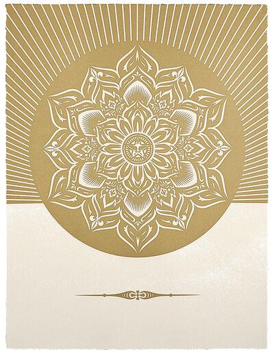 Shepard Fairey, 'Obey Lotus Diamond (White and Gold)', 2012