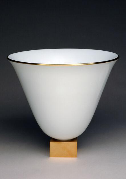 Jacques-Emile Ruhlmann, 'Vase Ruhlmann n°3 (white)', ca. 1930