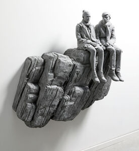 Hans Op de Beeck, 'The Cliff (wall piece) (small version)', 2019