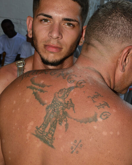 Nicola Lo Calzo, 'A young ekobio shows his brother's Abakuá signature tattoo', 2016