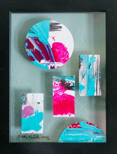 Whitney Pintello, 'Portholes 5- Cut and Collage Contemporary Abstraction Painting', 2020