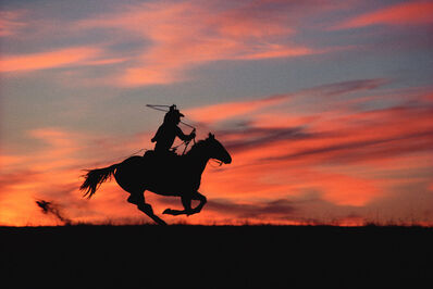 Norm Clasen, 'Sunset Chase, Riverton, WY', 1985