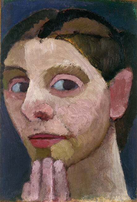 Paula Modersohn-Becker, 'Selbstbildnis nach halblinks, die Hand am Kinn (Self-Portrait Turned to the left with Her Hand at Her Chin )', 1906