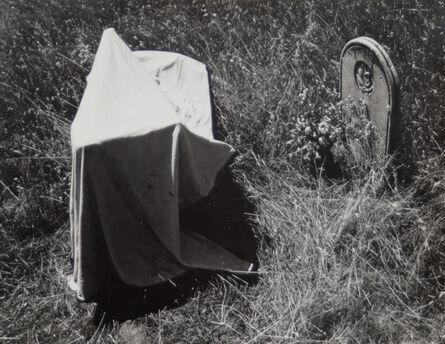Van Deren Coke, 'Untitled (Tombstone and cloth)', 1955