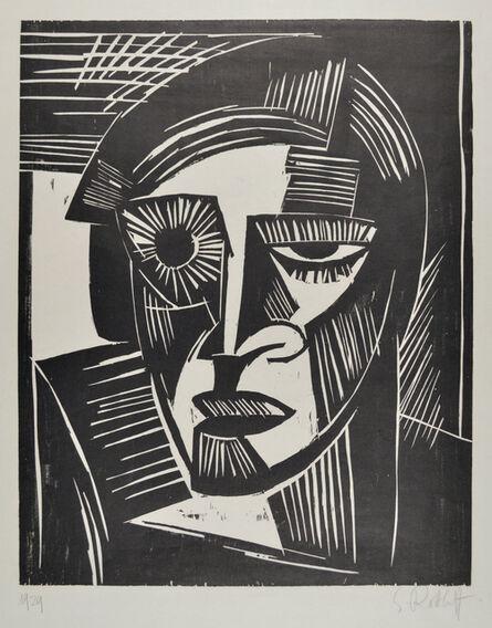 Karl Schmidt-Rottluff, 'Head (Portrait of a Woman)', 1919