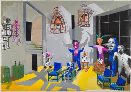 Stephen Farthing, 'The Museum of Exotic Modernism: St Angel, 2017 Diego Rivera's studio, St Angel, Mexico City ', 2017