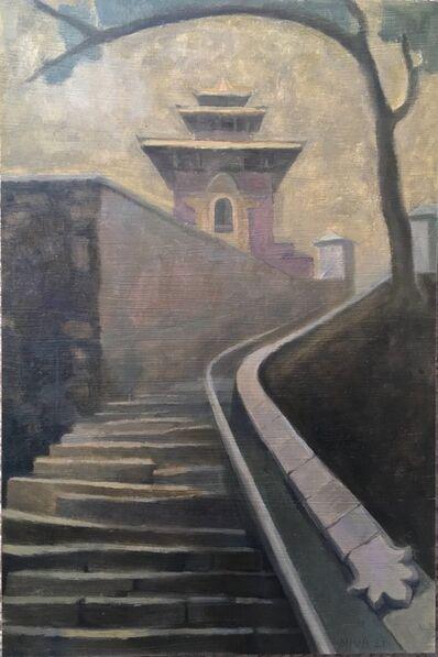 Niva Shrestha, 'On the Steps to Bajrayogini Temple', 2021