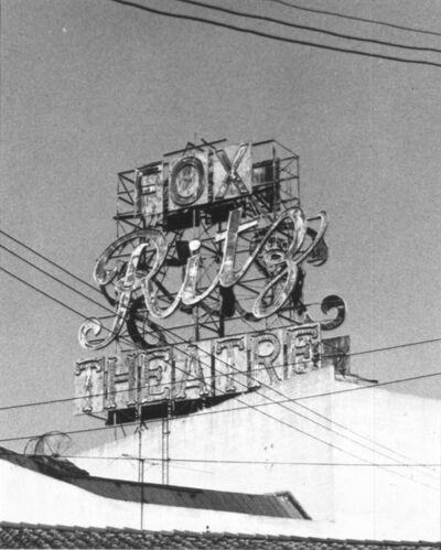 Ed Ruscha, 'Fox Ritz', 1960