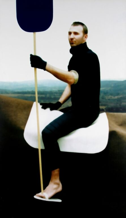 Xavier Veilhan, 'Untitled (Gilles on a horse with a stick)', 1998