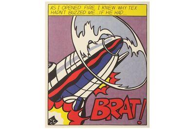 Roy Lichtenstein, 'As I Opened Fire (Triptych)'