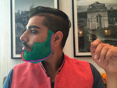 Ranbir Kaleka & Himanshu Suri, 'Beard Mentor', 2015