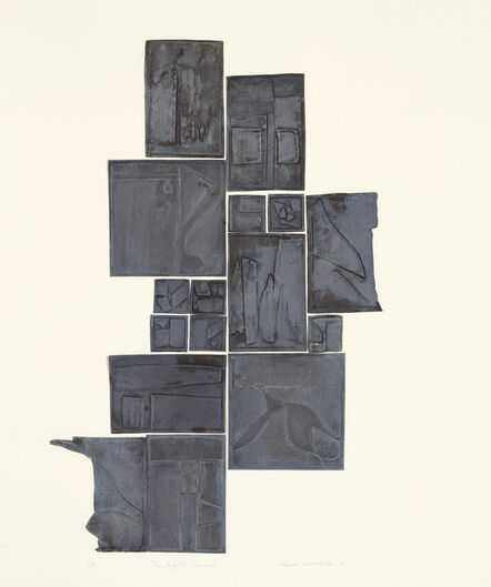 Louise Nevelson, 'Night Sound, Lead', 1970
