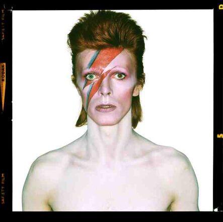 Brian Duffy, 'David Bowie: Aladdin Sane, Eyes Open - signed by David Bowie himself', 1973
