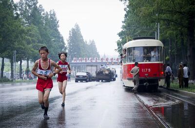 Ari Hatsuzawa, 'Pyongyang City Marathon', 2012