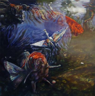 Ariel DeAndrea, 'Crane 47 - Koi Advances', 2019