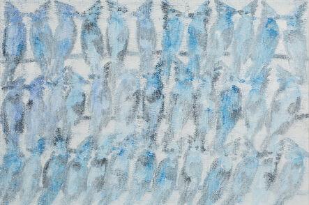 Hunt Slonem, 'Mystic Jays', 2018