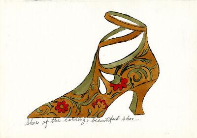 Andy Warhol, 'Shoe of the Evening, Beautiful Shoe', c. 1955