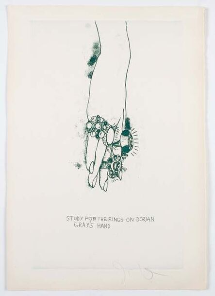 """Jim Dine, 'Study for the Rings on Dorian Gray's Hand from """"The Picture of Dorian Gray""""', 1968"""