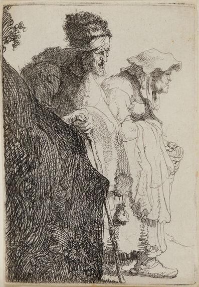 Rembrandt van Rijn, 'Beggar Man and Woman Behind a Bank', 1630