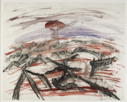 Nancy Spero, 'Bomb and Victims', 1967