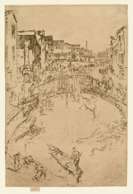 James Abbott McNeill Whistler, 'The Bridge, Santa Maria', 1879